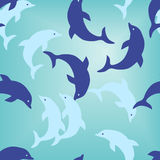 Seamless dolphin wallpaper Stock Photos