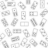 Seamless domino background. On white Stock Photography