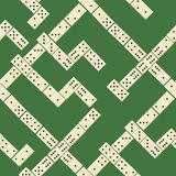 Seamless domino pattern Stock Image