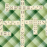 Seamless domino pattern Royalty Free Stock Image