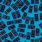 Seamless domino pattern. Seamless domino game vector pattern Royalty Free Stock Photos