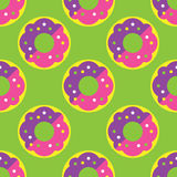 Seamless donut pattern Royalty Free Stock Image
