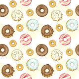 Seamless donuts background Royalty Free Stock Photos
