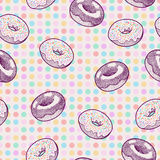 Seamless donuts Royalty Free Stock Photography