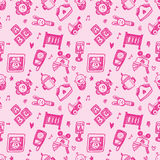 Seamless doodle baby pattern background Stock Photography