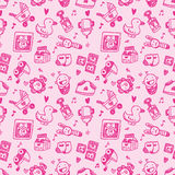 Seamless doodle baby pattern background Royalty Free Stock Images