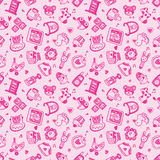 Seamless doodle baby pattern background Stock Photo