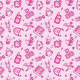 Seamless doodle baby pattern background Stock Photos