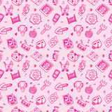 Seamless doodle baby pattern background Royalty Free Stock Photos