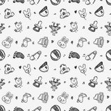 Seamless doodle baby pattern background Stock Image