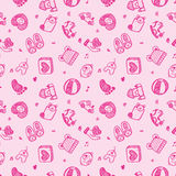 Seamless doodle baby pattern background Stock Images
