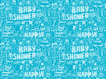 Seamless doodle baby pattern Stock Photography