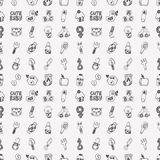 Seamless doodle baby pattern Royalty Free Stock Image