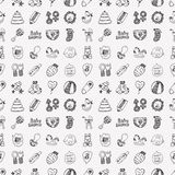 Seamless doodle baby pattern Stock Images