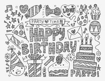 Seamless doodle baby pattern Royalty Free Stock Images