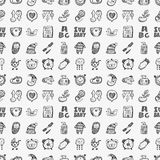 Seamless doodle baby pattern Royalty Free Stock Photos