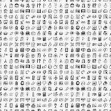 Seamless Doodle Back To School Element Pattern Bac Royalty Free Stock Photo