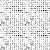 Seamless doodle back to school element pattern bac Stock Photos