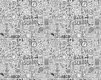 Seamless doodle back to school pattern Royalty Free Stock Image