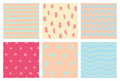 Seamless doodle background set Royalty Free Stock Photography
