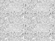 Seamless Doodle Birthday party pattern background Royalty Free Stock Photo