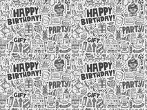 Seamless Doodle Birthday party pattern background. Vector illustration file Stock Photography