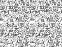 Seamless Doodle Birthday party pattern background. Vector illustration file Royalty Free Stock Photo