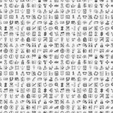 Seamless Doodle Birthday party pattern background. Vector illustration file,vector illustration file Royalty Free Stock Photo