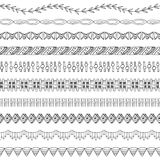 Seamless Doodle Border and Frame Elements two. 10 different seamless border and frame elements. Easy to edit! You can also add these to the brush palette Royalty Free Stock Images
