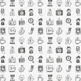 Seamless doodle business background Royalty Free Stock Photo