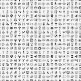 Seamless doodle business pattern Stock Photo