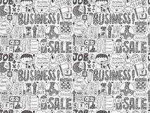 Seamless doodle business pattern Royalty Free Stock Photo