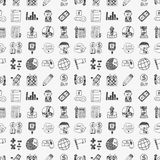 Seamless doodle business pattern Stock Photos