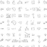 Seamless doodle business pattern Royalty Free Stock Photography