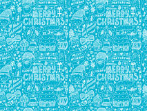 Seamless Doodle Christmas pattern Stock Image