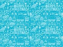 Seamless Doodle Christmas pattern Stock Image