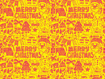Seamless Doodle Christmas pattern Royalty Free Stock Image