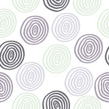 Seamless doodle circle background Stock Images