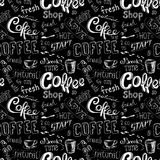 Seamless doodle coffee pattern background Stock Photography