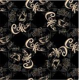Seamless doodle coffee pattern Stock Photo