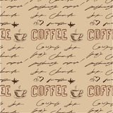 Seamless doodle coffee pattern Royalty Free Stock Photography