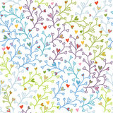 Seamless doodle colorful pattern Stock Photography