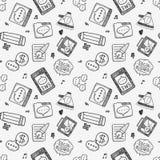 Seamless doodle communication pattern Stock Image