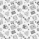 Seamless doodle communication pattern Stock Photography