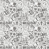 Seamless doodle communication pattern Royalty Free Stock Images