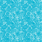 Seamless doodle communication pattern Royalty Free Stock Photo