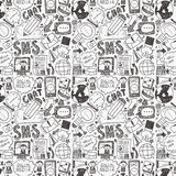 Seamless doodle communication pattern Royalty Free Stock Photography