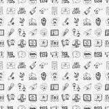Seamless doodle communication pattern Royalty Free Stock Image