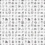 Seamless doodle communication pattern. Cartoon vector illustration Royalty Free Stock Photos