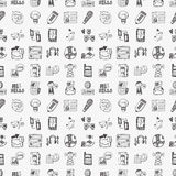 Seamless doodle communication pattern Stock Photo